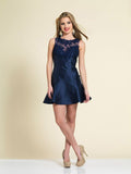 Homecoming Dress Dave & Johnny A4001 Navy