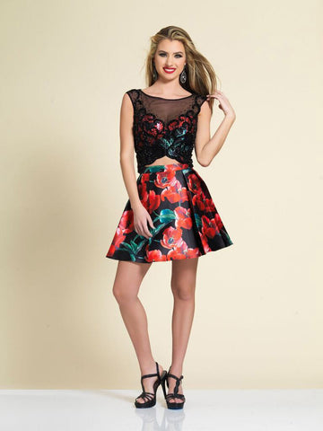 Homecoming Dress Dave & Johnny Print A4040