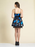 Dave & Johnny A4144 Homecoming Dress Floral Print Back