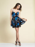 Dave & Johnny A4144 Homecoming Dress Floral Print