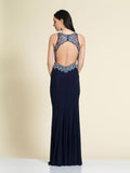 Prom Dress Dave & Johnny A4164 Navy Back