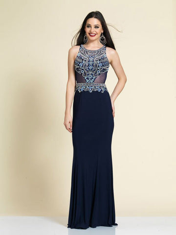 Prom Dress Dave & Johnny A4164 Navy
