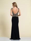 Prom Dress Dave & Johnny A4166 Black Back