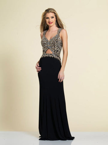Prom Dress Dave & Johnny A4166 Black
