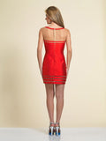 Homecoming Dress Dave & Johnny A4180 Red Back