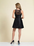 Homecoming Dress Dave & Johnny A4182 Black Back