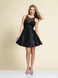 Homecoming Dress Dave & Johnny A4182 Black
