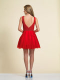 Homecoming Dress Dave & Johnny A4190 Red Back
