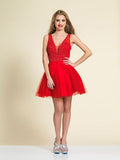 Homecoming Dress Dave & Johnny A4190 Red