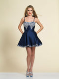 Dave & Johnny A4203 Homecoming Dress Navy