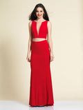 Dave & Johnny A4309 Prom Dress Red