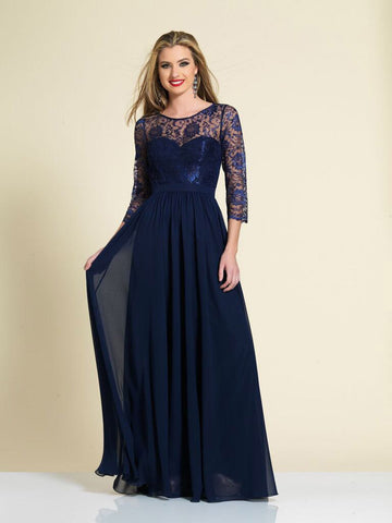 Prom Dress Dave & Johnny A4271 Navy
