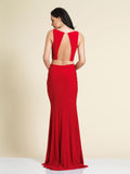 Dave & Johnny A4309 Prom Dress Red Back