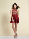 Homecoming Dress Dave & Johnny A4311 Burgundy