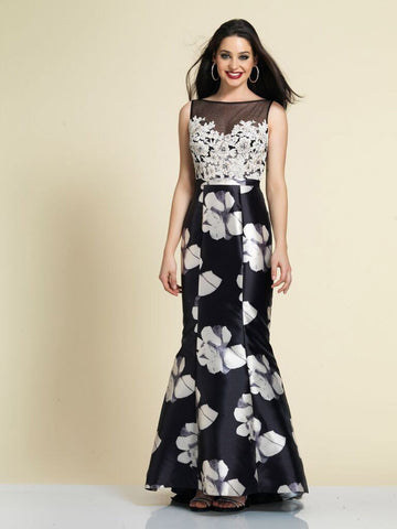 Prom Dress Dave & Johnny A4315 Floral Print