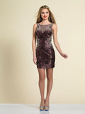 Homecoming Dress Dave & Johnny A4340 Rose