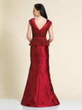 Prom Dress Dave & Johnny A4344 Wine Back