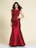 Prom Dress Dave & Johnny A4344 Wine