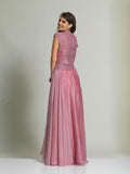 Dave & Johnny 497 Rose Pink Prom Dress Back