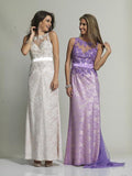 Dave & Johnny 512 Prom Dress Ivory, Lilac