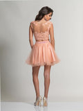 Dave & Johnny 784 Blush Homecoming Dress