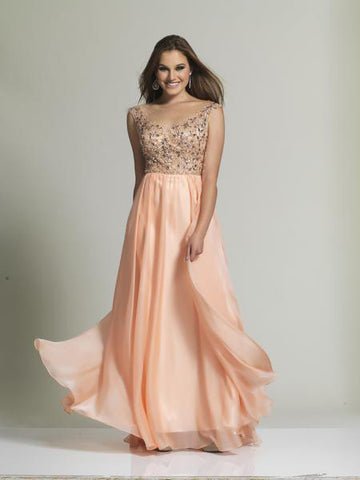 Dave & Johnny 920 Prom Dress Peach