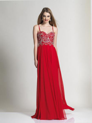 Dave & Johnny 980 Prom Dress Red