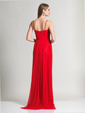 Dave & Johnny 980 Red Prom Dress Back