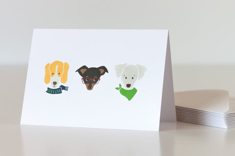 Custom pet portrait illustrations by Oxford Dogma