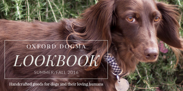 Oxford Dogma Summer/Fall 2016 Catalog of handcrafted goods for dogs and their loving humans
