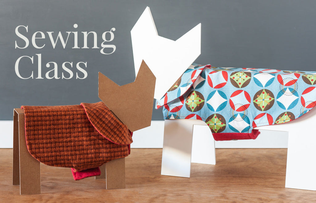 Custom pet jacket sewing class