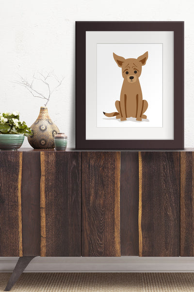 Custom Pet Portrait of Archie the Chi-Minpin-Chinese Crested by Oxford Dogma