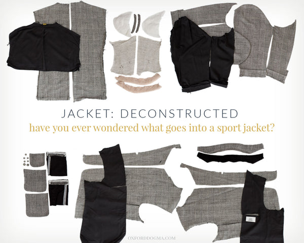 Deconstructed sport jacket | oxforddogma.com