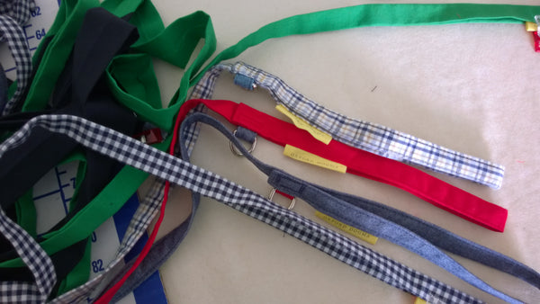 handmade leashes in progress