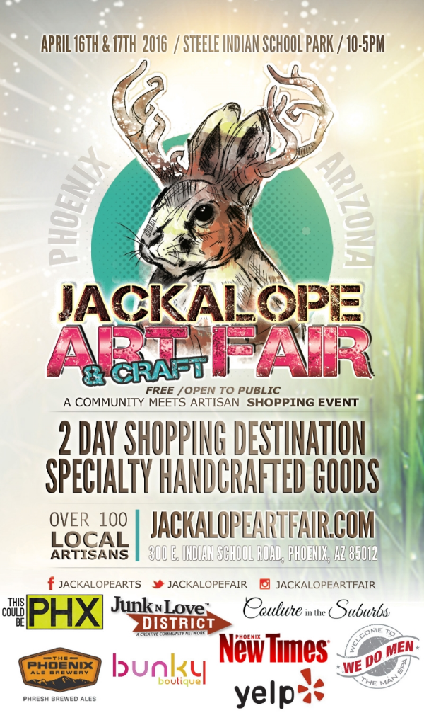 Jackalope Art & Craft Fair in Phoenix on April 16 and 17 2016