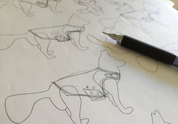 sketches of the Tailored Dog Jacket | oxforddogma.com