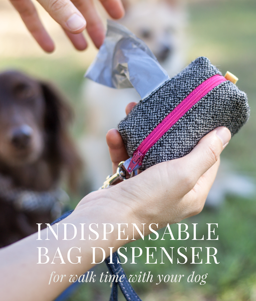 The indispensable poop bag dispenser for walk time with your dog