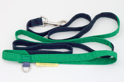 Lightweight classic 6-foot cotton colorblock dog leash for small dogs | oxforddogma.com