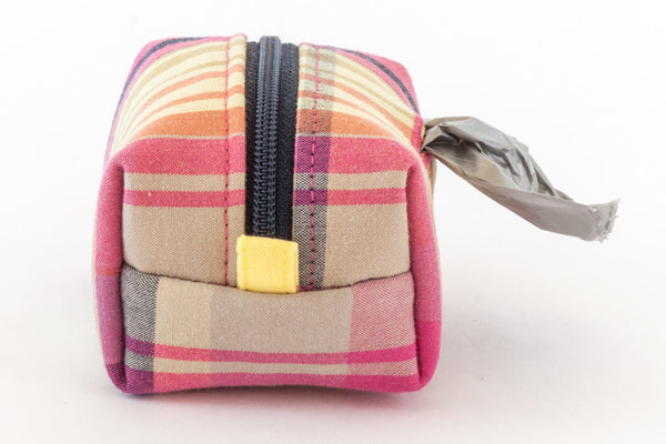 Road Trip Leash Pouch in madras plaid | oxforddogma.com