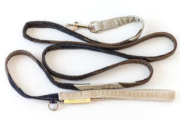 Inspired by shelter pets, The Mutt Love dog leash for small and medium dogs is made of mixed reclaimed materials | oxforddogma.com