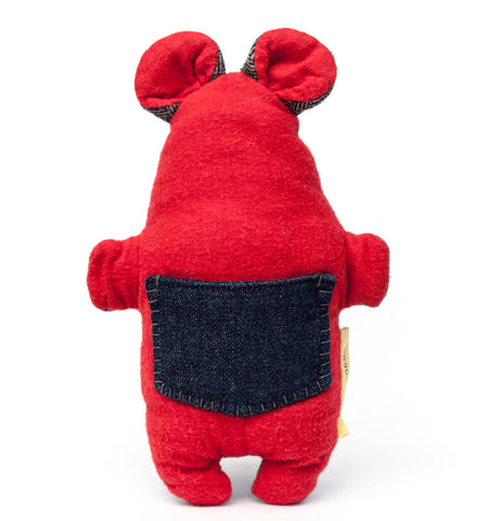 The plush Pocket Critter Interactive Dog Toy features a pocket for hiding treats or kibble that your dog has to find | oxforddogma.com