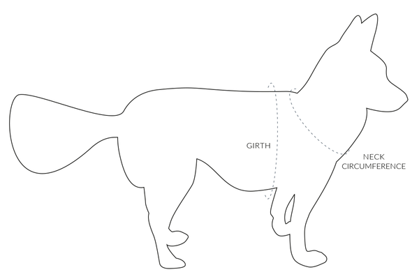 How to measure your dog for a Custom Comfort Vest Harness by Oxford Dogma