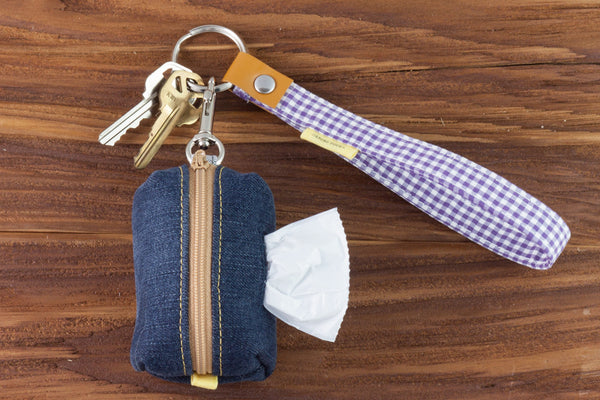 In addition to holding your keys, the Key Fob can hold a Bag Dispenser for cleaning up after your dog | oxforddogma.com