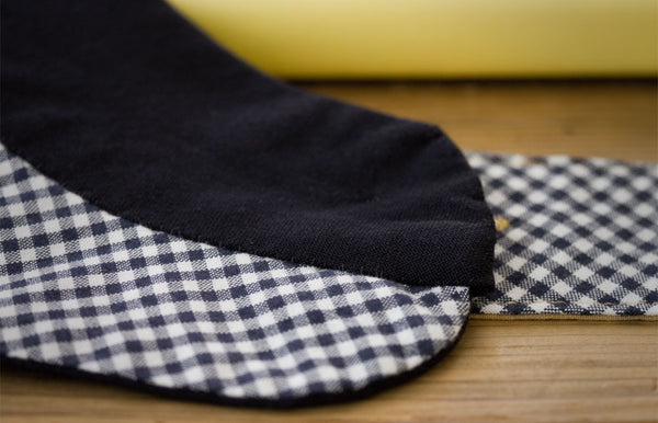 Tailored Classic Dog Coat in Navy Blue Wool with Gingham Lining | oxforddogma.com