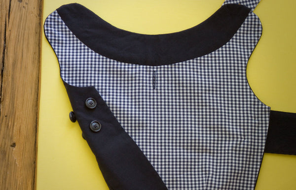 The Tailored Classic Dog Jacket is fully lined and features a hand-stitched collar band | oxforddogma.com