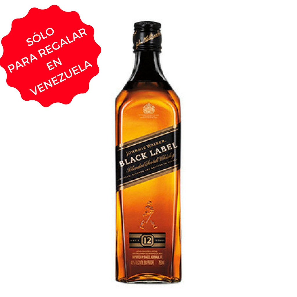 WHISKY JOHNNIE WALKER BLACK LABEL (ETIQUETA NEGRA) 0,75 L
