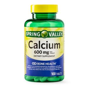 Calcio Spring Valley - 600mg - 100 tabletas