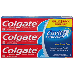 Crema Colgate cavity protection - 3 pack (8 oz cada una)