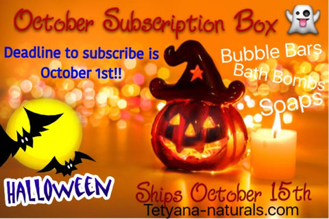 October Subscriprion Halloween Box
