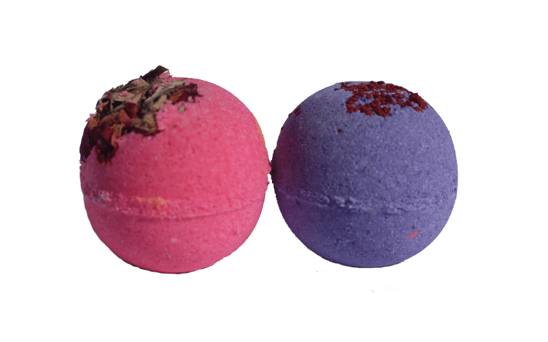 Set of 2 Small Bath Bombs (Baby Rose and Black Raspberry & Vanilla) - Tetyana naturals